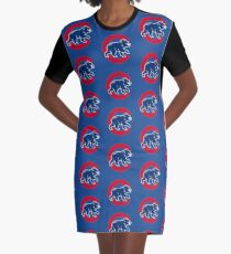 Chicago Cubs Original Logo Graphic T-Shirt Dress