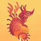 Dragonpop alebrije cherry orange by Colordrilos