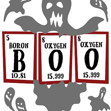 Halloween Boo Periodic Table Science Teacher Biology Major by kh123856
