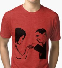 DON'T BOO, VOTE: Obama Fist Bump Tri-blend T-Shirt