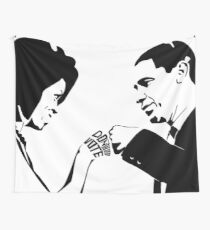DON'T BOO, VOTE: Obama Fist Bump Wall Tapestry