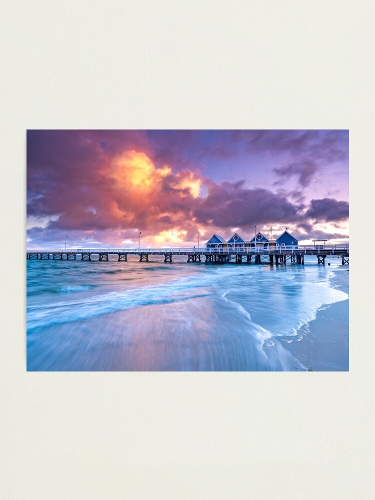 Alternate view of Busselton Jetty Sunrise Photographic Print