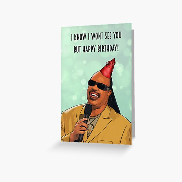 Stevie Wonder - happy birthday Greeting Card