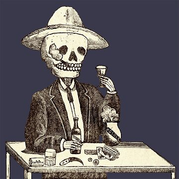 """Eat, Drink and Be Merry..."" - Vintage Day of the Dead (Día de Muertos) by vertigocreative"