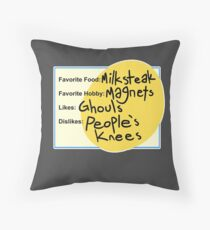 Charlie's Dating Profile Throw Pillow