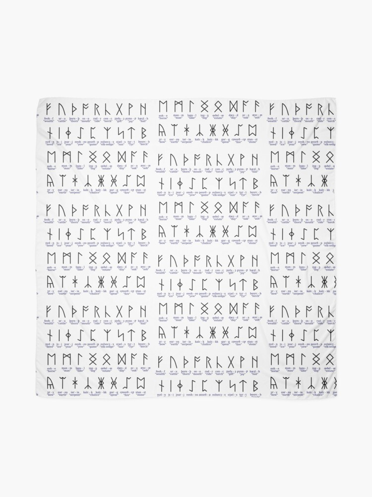 Futhorc 34 Anglo Saxon Runes Scarf By Pzandrews Redbubble