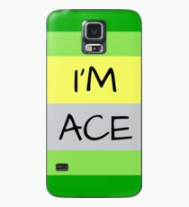 AROMANTIC FLAG I'M ACE ASEXUAL T-SHIRT Case/Skin for Samsung Galaxy