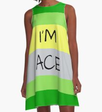 AROMANTIC FLAG I'M ACE ASEXUAL T-SHIRT A-Line Dress