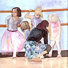 I do ballet! , watercolor on yupo paper by Sandrine Pelissier