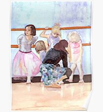I do ballet! , watercolor on yupo paper Poster