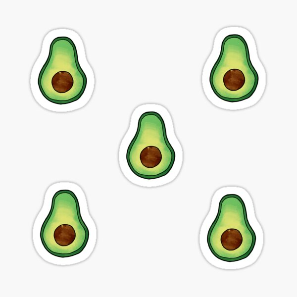Avocado, Avacado, Avocado T-shirts Sticker