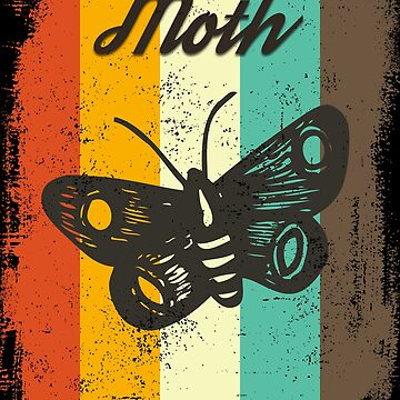 Moth Retro 70s Vintage Insect Lover Gift by cgocgy