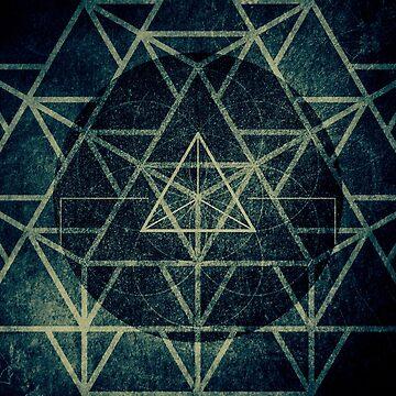 Sacred Geometry Tetrahedron Ignis Dark by RAFAROMAN