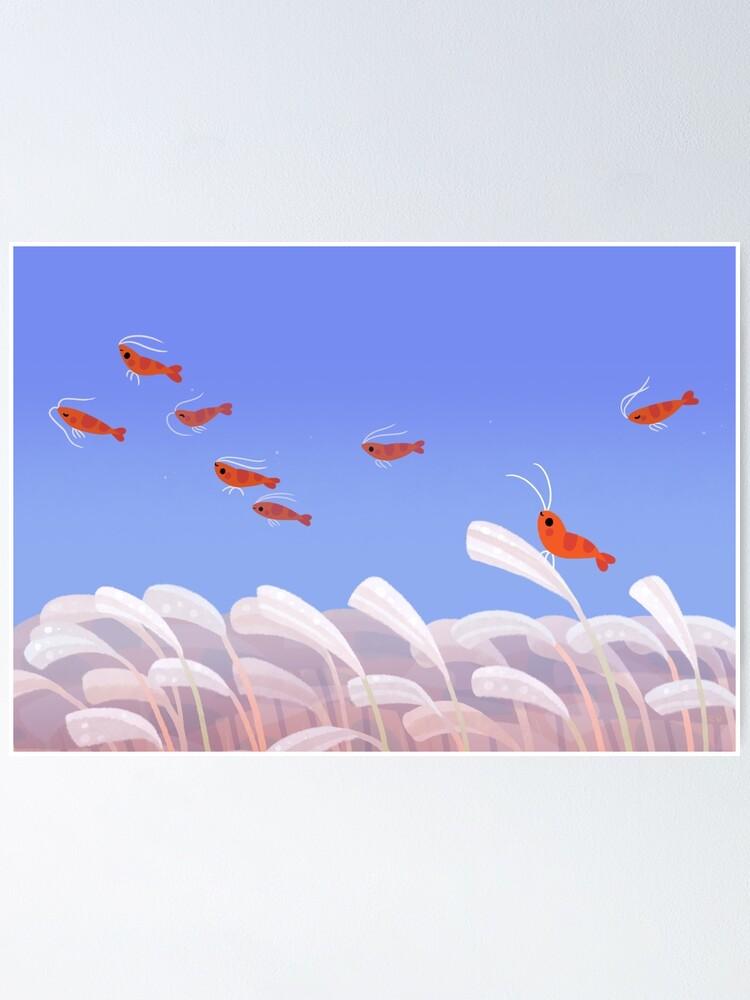 Alternate view of Flying cherry shrimp  Poster