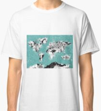 World Map landmarks Classic T-Shirt