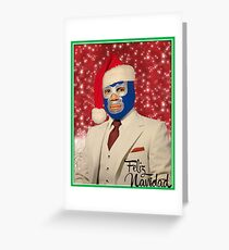 Blue Demon Christmas Wishes Greeting Card