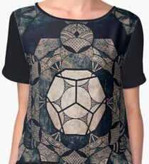 Sacred Geometry Mix- Platonic Solids Chiffon Top