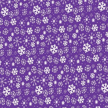 Snowflake Snowstorm With Purple Background by taiche