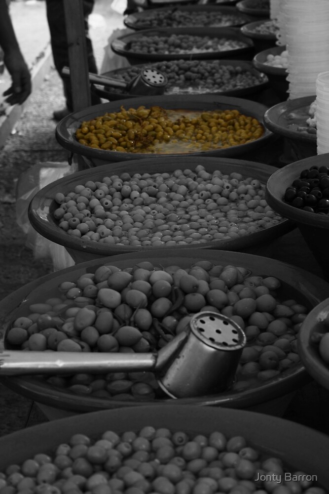 selective colouring - olive by Jonty Barron