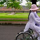 School girls on bicycles, Hue by Traveldreams