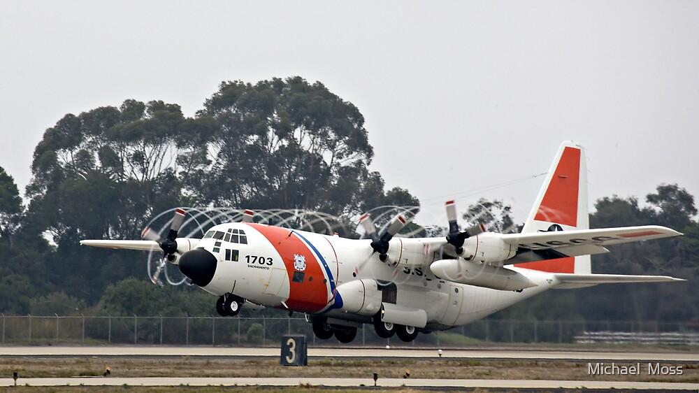 Coast Guard Foggy Takeoff by Michael  Moss
