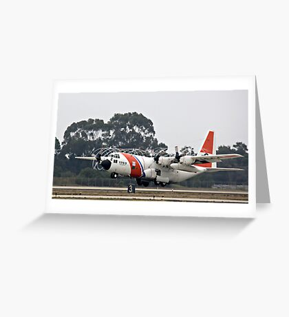 Coast Guard Foggy Takeoff Greeting Card