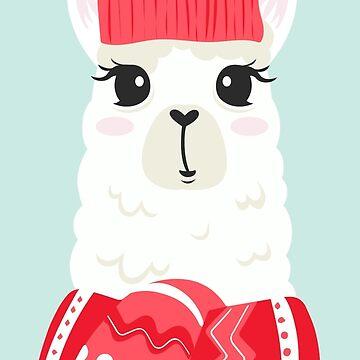Christmas Llama by heartlocked