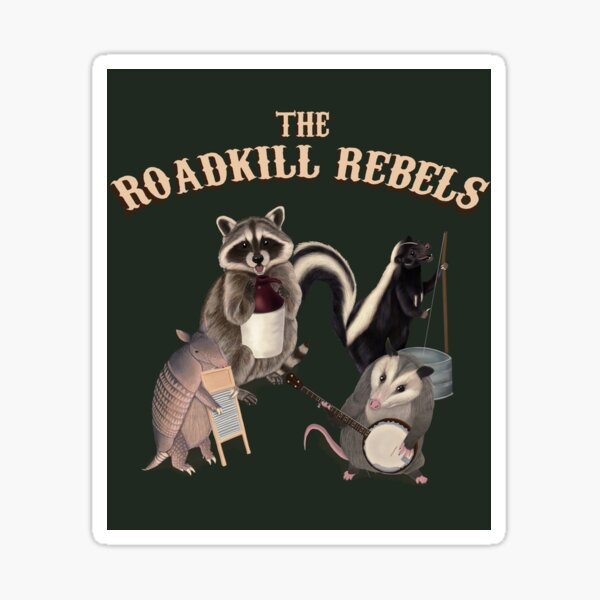 The Roadkill Rebels - Animals playing Instruments Sticker