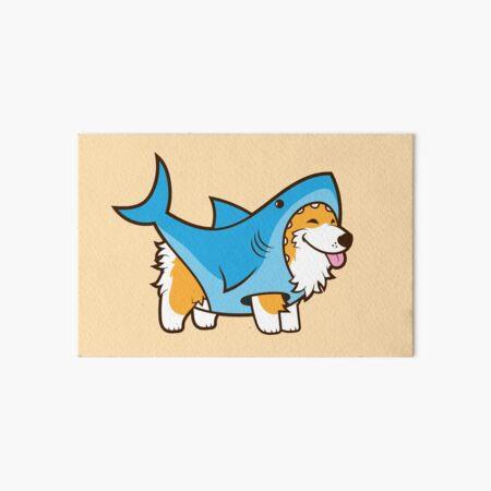 Corgi In a Shark Suit Art Board Print