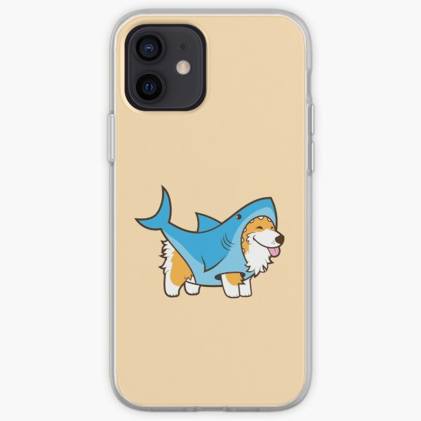 Corgi In a Shark Suit iPhone Soft Case