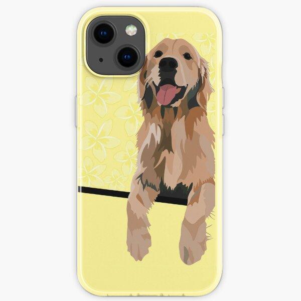 Golden Retriever Sticker, Golden Sticker, Golden Retriever Phone Case, Yellow Golden Retriever, Golden Retriever Notebook, Cute Notebook, Dog Lover iPhone Soft Case