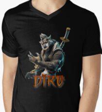 Dire Skin-Fortnite Men's V-Neck T-Shirt