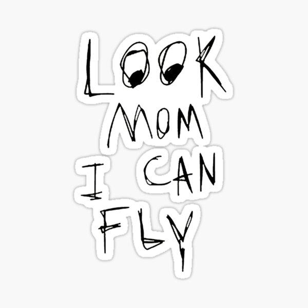 mira mamá puedo volar Pegatina