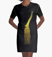 Moss spore capsule under the microscope Graphic T-Shirt Dress