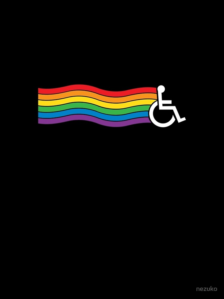 Wheelchair Pride (dark background) by nezuko