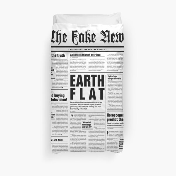 The Fake News Vol. 1, No. 1 Duvet Cover