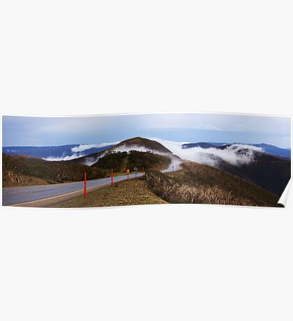 the fogs rolling in the mountains,panorama Poster
