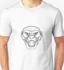 Honey Badger Head Monoline Unisex T-Shirt