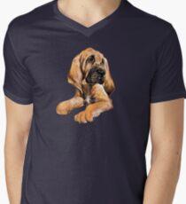 Bloodhound Watercolor Illustration Men's V-Neck T-Shirt