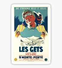 Vintage Travel Poster France Les Gets - Monte Pente Sticker