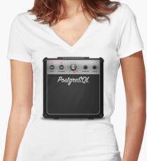 PostgreSQL 11 Amplifier (Women's cut) Tailliertes T-Shirt mit V-Ausschnitt