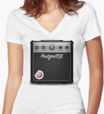 PostgreSQL 11 Amplifier with credativ logo (Women's cut) Tailliertes T-Shirt mit V-Ausschnitt