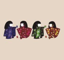 Sadako Rainbow Tee by Naomi  O'Connor