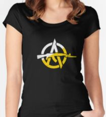 Anarcho Capitalism Women's Fitted Scoop T-Shirt