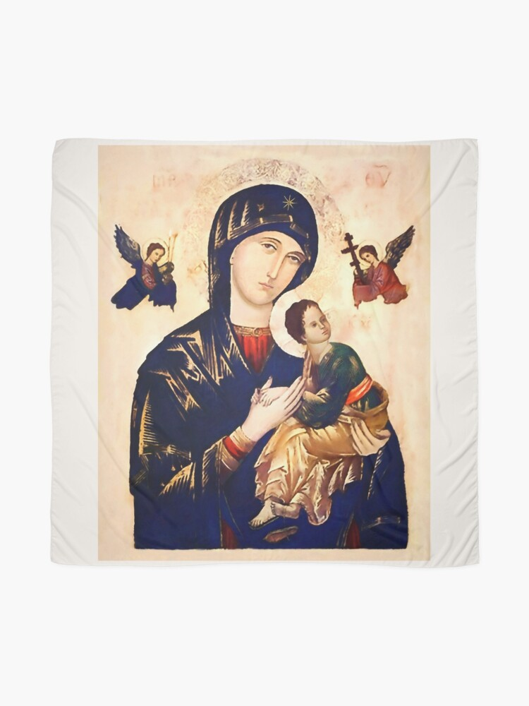 Alternate view of The Miraculous Painting of Our Mother of Perpetual Help Scarf