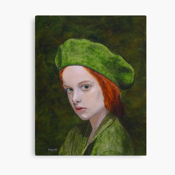 Child in Green Canvas Print