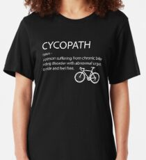 Cycling Funny Design - Cycopath Noun  Slim Fit T-Shirt