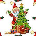 Santa decorating a Christmas Tree  by SherDigiScraps