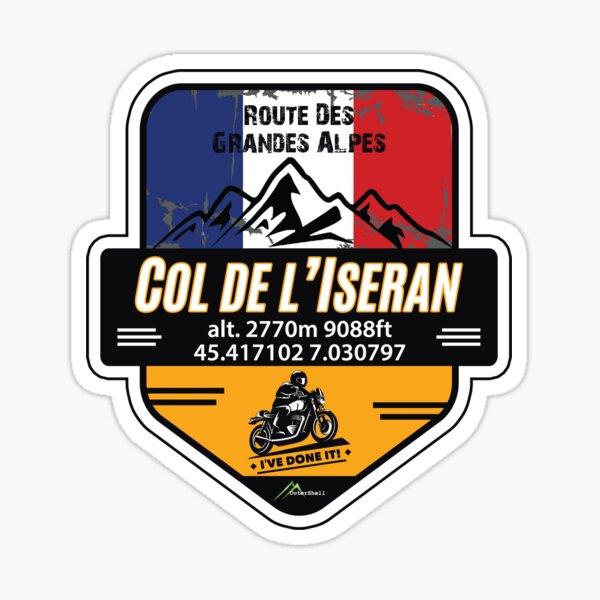 Col de l'Iseran Motorcycle T-Shirt & Sticker - Route des Grandes Alpes - Ive Done It! Sticker