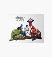 Jesus and His Heroes Friends Art Board Print